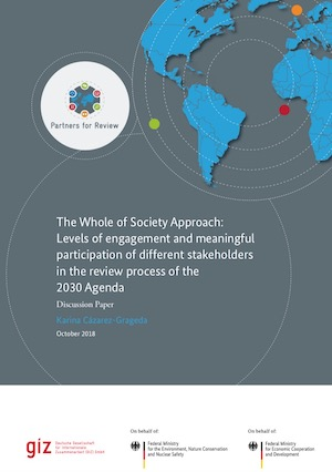 The Whole of Society Approach – Levels of engagement and meaningful participation of different stakeholders in the review process of the 2030 Agenda