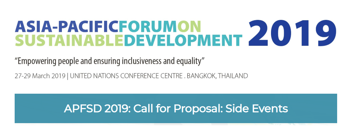 APFSD 2019: Call for Proposal: Side Events