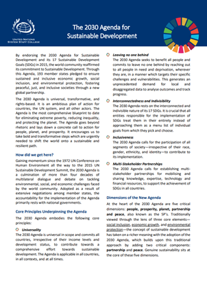 Two-page primer on the 2030 Agenda for Sustainable Development
