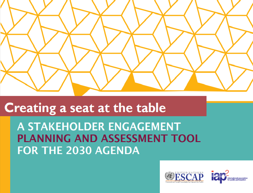 Creating a Seat at the Table: A Stakeholder Engagement Planning and Assessment Tool for the 2030 Agenda