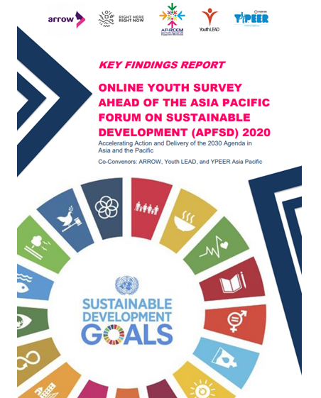 Cover for the Key Findings Report with Stylized SDG Wheel