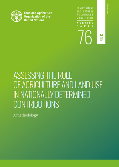 Assessing the role of ag. in NDCs