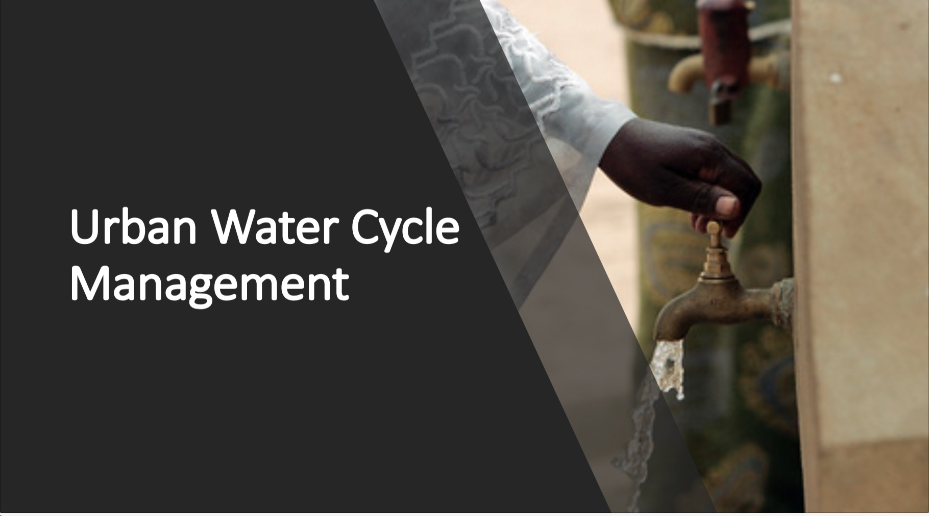urban water cycle management