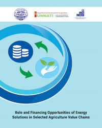 Role and Financing Opportunities of Energy Solutions in Selected Agriculture Value Chains