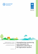 Strengthening monitoring and evaluation for adaptation planning in the agriculture sectors
