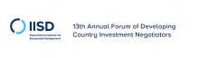 13th Annual Forum of Developing Country Investment Negotiators